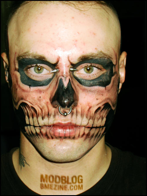 Petes Blog » Blog Archive » Tattoo death mask