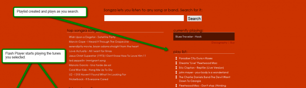 Songza - Search engine for Music