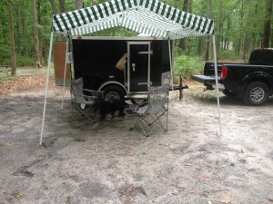Camping with Air Conditioning - 5x8 Cargo Camper