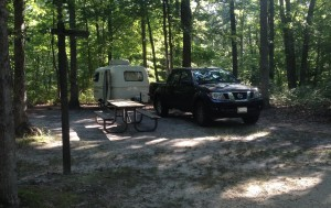First scamp camping trip at Turkey Swamp Park